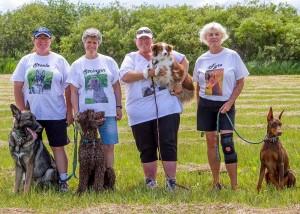 Diggity Dogs:  Lu & Steele, Darby & Stringer, Glenda & Carly, Lynda & Fyre