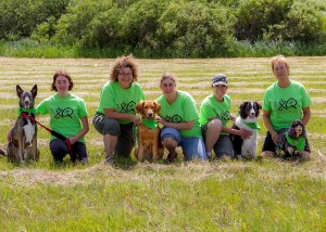 No X-Q's:  Robyn & Mr. Grommitt, Marsha & Savi, Nicole & Kita, Linda & Murphy Brown.  Photo by Joan Morgan