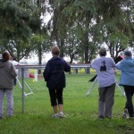 Lynne, Linda, Shirley & Jocelyn taking in the action