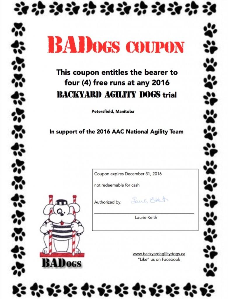 BADogs coupon 2016